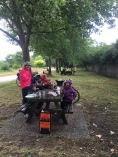 A typical lunch stop along the bike route